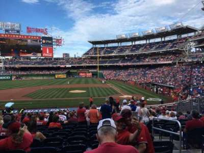 Nationals Park, section: 117, row: JJ, seat: 4