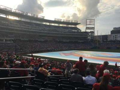 Nationals Park, section: 132, row: Kk, seat: 17