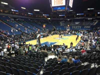 Target Center, section: 138, row: L, seat: 8