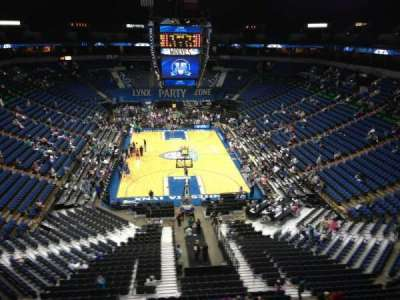 Target Center, section: 201, row: C, seat: 7