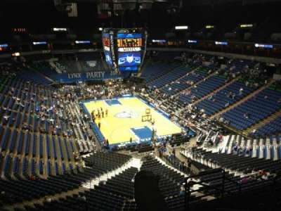 Target Center, section: 202, row: A, seat: 8