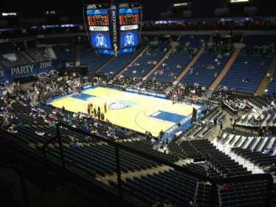 Target Center, section: 205, row: A, seat: 8