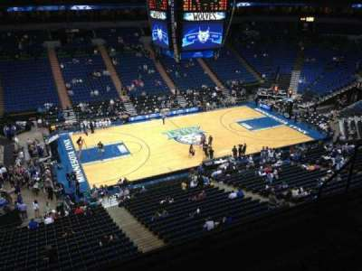 Target Center, section: 213, row: A, seat: 8