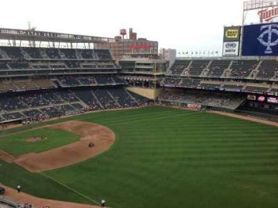 Target Field, section: 302, row: 1, seat: 7