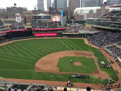Target Field, section: 319, row: 1, seat: 18