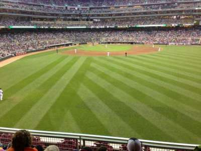 Target Field, section: 134, row: 4, seat: 22