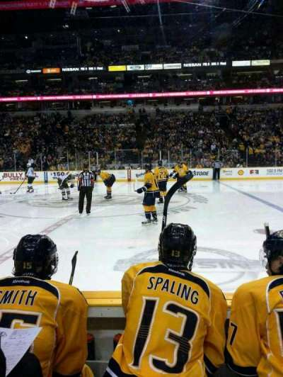 Bridgestone Arena, section: 116, row: cc, seat: 10