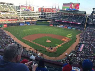 Globe Life Park in Arlington, section: 325, row: 6, seat: 7