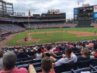 Turner Field, section: 105R, row: 26, seat: 7
