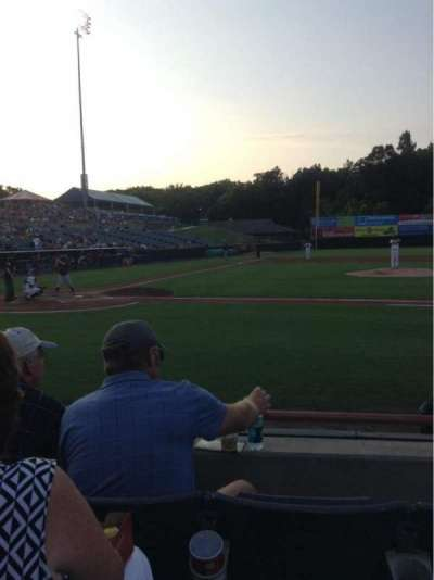 Prince George's Stadium, section: 109, row: C, seat: 9