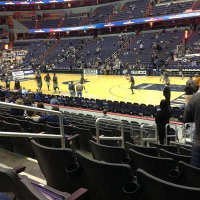 Verizon Center, section: 113, row: M, seat: 4