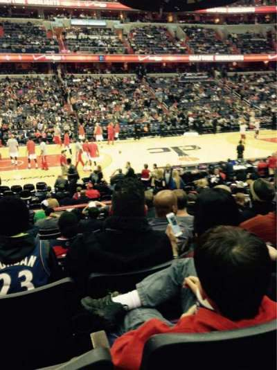 Verizon Center, section: 121, row: M