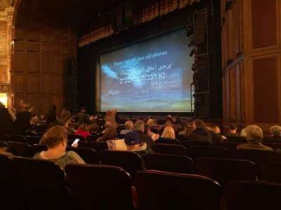 Benedum Center, section: Orchestra RC, row: J, seat: 50