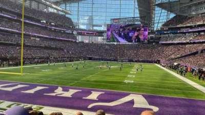 U.S. Bank Stadium, section: 118, row: 8, seat: 15
