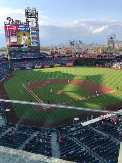 Citizens Bank Park, section: 319, row: 1, seat: 5