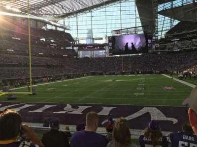 U.S. Bank Stadium, section: 118, row: 8, seat: 16