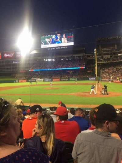Globe Life Park in Arlington, section: 22, row: 10, seat: 3