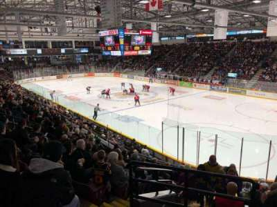 Barrie Molson Centre, section: 123, row: 15, seat: 1