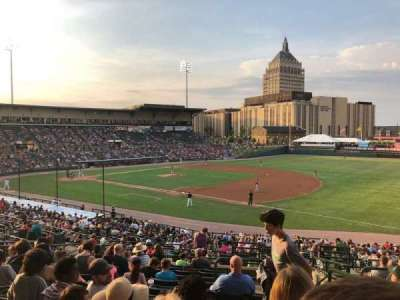 Frontier Field, section: 203, row: L, seat: 10