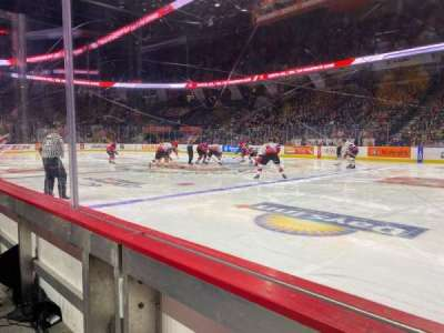 FirstOntario Centre, section: 106, row: 1, seat: 13