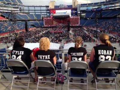 Gillette Stadium, section: 142, row: 36, seat: 4