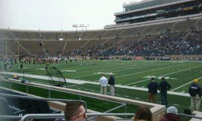 Notre Dame Stadium, section: 25, row: 9, seat: 23