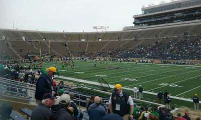 Notre Dame Stadium, section: 25, row: 25, seat: 9