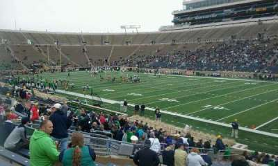Notre Dame Stadium, section: 24, row: 32, seat: 8