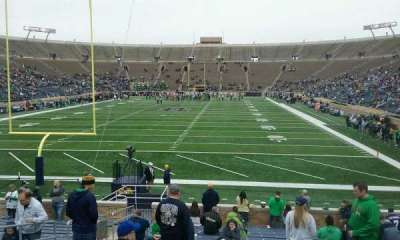 Notre Dame Stadium, section: 18, row: 25, seat: 14