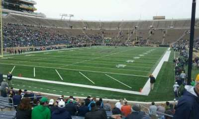 Notre Dame Stadium, section: 17, row: 23, seat: 2