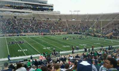 Notre Dame Stadium, section: 11, row: 38, seat: 26