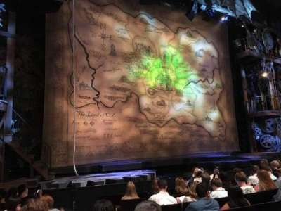 Gershwin Theatre, section: Orchestra L, row: D, seat: 3