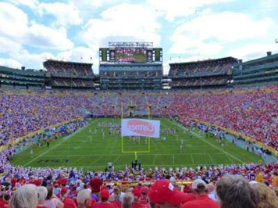 Lambeau Field, section: 100, row: 49, seat: 15