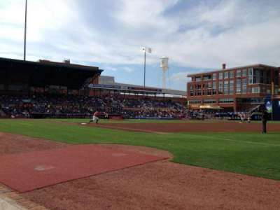 Durham Bulls Athletic Park, section: 116, row: A, seat: 24