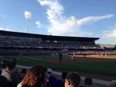 Smith's Ballpark, section: 5, row: 4, seat: 4