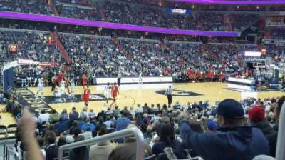 Verizon Center, vak: 109, rij: N, stoel: 17