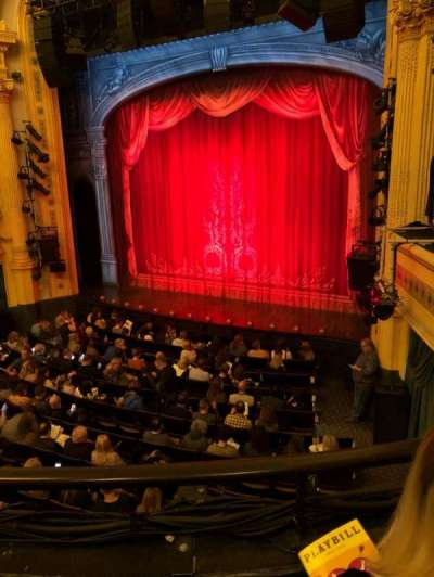 Hudson Theatre, section: Dress Circle, row: B, seat: 10