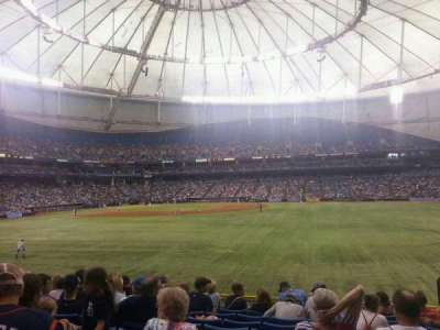 Tropicana Field, section: 148, row: DD, seat: 19