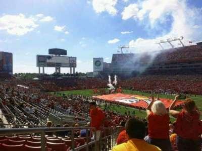 Raymond James Stadium, section: 243, row: T, seat: 1