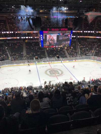 T-Mobile Arena, section: 204, row: K, seat: 7