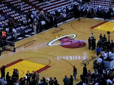 American Airlines Arena, section: 329, row: 1