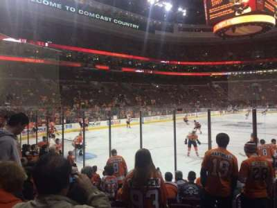 Wells Fargo Center, section: 121, row: 10, seat: 8