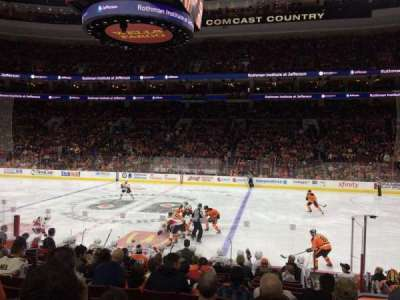 Wells Fargo Center, section: 102, row: 14, seat: 10