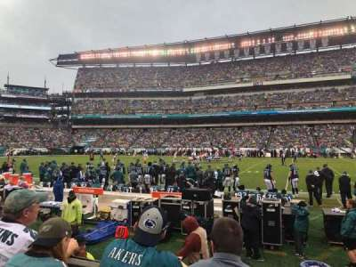 Lincoln Financial Field, section: 102, row: 3, seat: 10