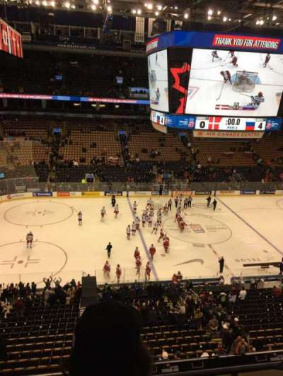 Air Canada Centre, section: 322, row: 3, seat: 15