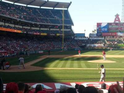 Angel Stadium, section: F123, row: H, seat: 2