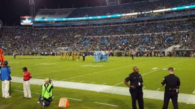EverBank Field, section: FLN, row: C, seat: 10
