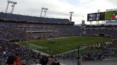 EverBank Field, section: 217, row: H, seat: 12