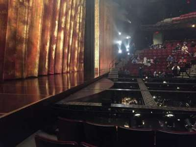 Vivian Beaumont Theater, section: Orch Left, row: F, seat: 110