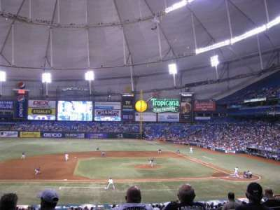 Tropicana Field, section: 115, row: PP, seat: 4